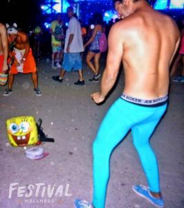 Festival Wellness crew dancing